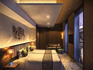 ホテル ザ セレスティン銀座(2017年10月5日オープン):客室ツイン(イメージ)