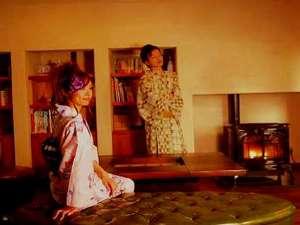城崎温泉 お宿白山 陽邸さなえ田(ようてい さなえだ):雪の降る夜は、ペレットストーブの炎を眺めながら、しばし時を忘れて。。