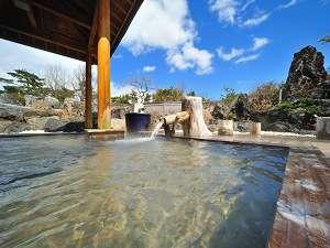 八幡平ハイツ:大浴場露天風呂