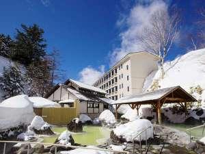 万座高原ホテル:雪の石庭露天風呂