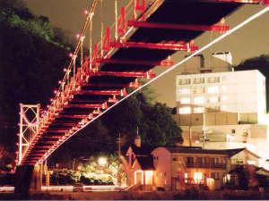 たつの市国民宿舎 志んぐ荘:つり橋夜景