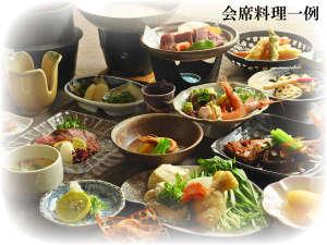 おばな旅館 富貴亭:【会席料理一例】会席プラン・季節によってメニューが異なります。
