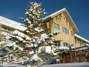 丘の上のホテル:冬の外観