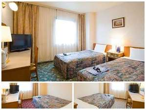 ホテルパコジュニア北見:上 ツインルーム左下 シングルルーム右下 ダブルルーム