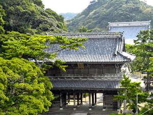 江戸時代に建立された誕生寺は徒歩30秒。