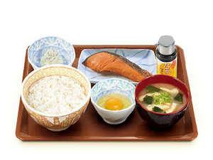 ホテル新橋三番館:朝食の一例(すき家)