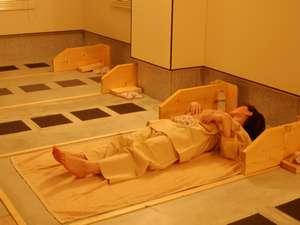 サンホテル青木:さらさらの汗をかいてリフレッシュ!5Fにある岩盤浴(※ご利用は女性限定です)最終受付は夜10時まで。