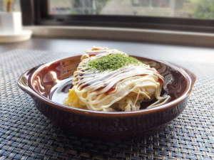 ホテルクリスタル広島:朝食のメニューにお好み焼きも!ぜひご賞味下さい!