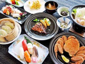 ホテルニュー幸林:【(枝幸プラン)夕食一例】枝幸の新鮮魚介類をご堪能ください。