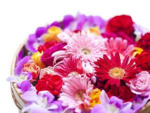 ホテルアラマンダ:日常を忘れゴージャスに生花を使ったフラワーバスはいかがですか?フラワーバス¥3500