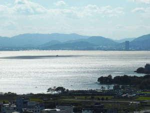 雄山荘からのびわ湖の眺望 秋