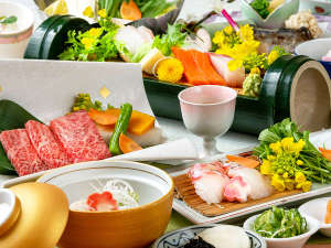 近江牛陶板焼きがメインの会席料理 2019春