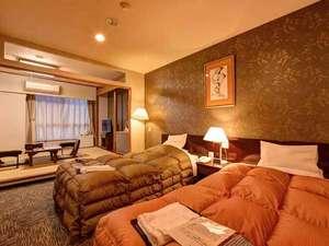 天然温泉 広島北ホテル:*特別和洋室(客室一例)/和と洋、両方の良さを味わえる客室。安眠の夜をお過ごし下さい。
