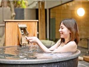 天然温泉 広島北ホテル:女性専用露天風呂源泉かけ流しとなっております
