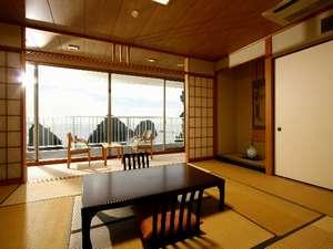 絶景の宿 堂ヶ島ホテル天遊:全室オーシャンフロント【和室一例】