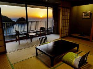 絶景の宿 堂ヶ島ホテル天遊:【~三四郎島&駿河湾View~】和室12畳 一例1