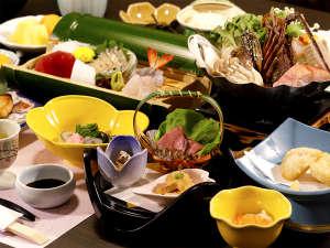 絶景の宿 堂ヶ島ホテル天遊:【夕食】季節ごとの美味をご堪能下さい(秋冬一例)
