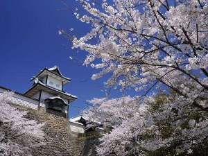 星野リゾート 界 加賀:【金沢城公園】春は城と桜の見事なコントラストを楽しめます