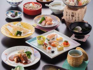 八雲温泉ゆうあい熊野館:季節会席:2018年の一例 季節の食材を使ったお料理をお愉しみ下さい