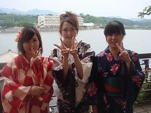 日田温泉 亀山亭ホテル:女性には色浴衣の無料貸し出しがあります