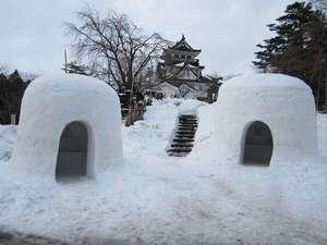 冬の横手公園、韓国ドラマ「IRIS」の撮影も行われました。