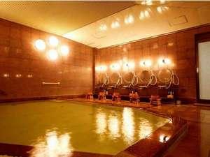 秀山閣にある天然温泉の大浴場。効能は神経痛・関節痛・冷え性・疲労回復など。