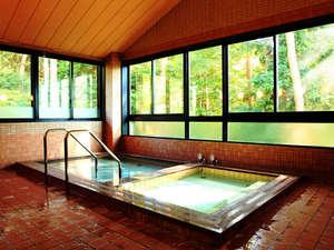 駒ヶ根ふるさとの家:■まるで森林浴をしているようお風呂(男湯)。入浴時間は15:00~22:00となっています。