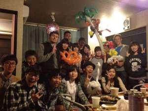 福岡バックパッカーズホステル:月1~2回お客様と一緒にパーティーをやっております。