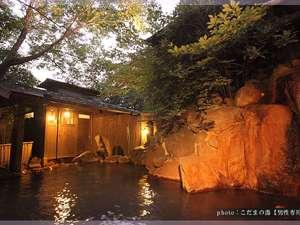 旅館 やまの湯:男性露天風呂