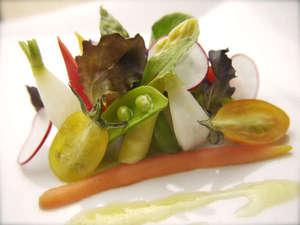 ホテル紅や:【フレンチ】料理イメージ 旬や鮮度にこだわる野菜ソムリエの力作