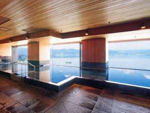 ホテル紅や:【温泉展望浴場】14階から信州の雄大なパノラマが広がります