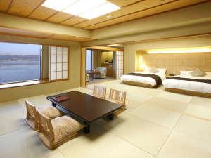 ホテル紅や:>【上諏訪別邸】12F特別フロア/和洋室(和モダン)