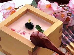 【3種の異なる泉質と四季の郷土料理】美人の湯 瀬美温泉:【期間限定デザート】3月~4月迄、桜プリンが、夕食膳に登場します♪インスタ映えするかな?