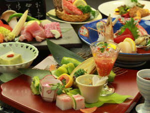 悠の湯 風の季:【プレミアム会席】花巻を代表する、胡四の牛王・白金豚など、豪華食材を堪能♪
