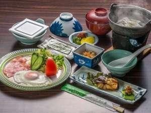 湯けむりの宿 ほの香:朝は体に優しい食事をご用意/例