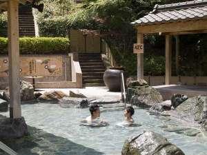 大江戸温泉物語 ホテルレオマの森:家族で楽しく露天風呂でワイワイ