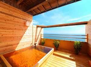 天空湯房 清海荘:絶景でございます♪ご家族・カップル・お友達どうしで、是非ご体験を 貸切の展望露天風呂(1回45分)