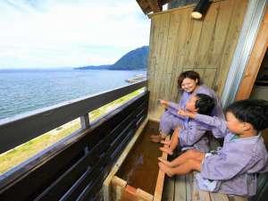 天空湯房 清海荘:広大な海を眺めながら語らう時間。足湯付客室(一例)