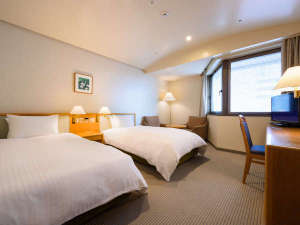 ホテル仙台ガーデンパレス:ご家族に人気のひろびろツインルーム☆シモンズ製&デュペスタイルでさらに快適に♪