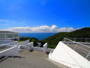 四国最南端絶景リゾートホテル 足摺テルメ:展望テラスからは太平洋が一望できます。