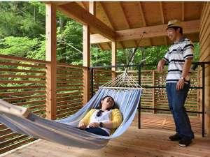 温泉グランピング ShimaBlue:【LG】ハンモックやハンギングチェアでお二人の優雅なひとときをお過ごし下さい。