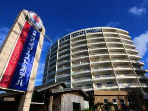 沖縄サンコーストホテル:58号線沿い、高速近く!看板が目印です☆