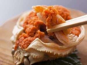 厳選幻の但馬牛 冬は蟹が人気 温泉めぐりに便利な宿 山しろや:⑨日本海の珍味「セコ蟹」です!旅館で茹で、お箸だけで食べて頂ける様に調理しております