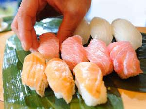 仙台・作並 La楽リゾートホテル グリーングリーン:実演コーナーの一例『握りたて生寿司』