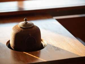 チェックイン時にお出しする煎茶用茶釜