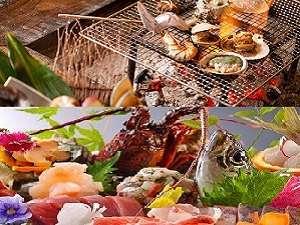 南房総千倉温泉 千倉館:お料理は、炭火焼コースとお刺身中心の磯料理がございます。2泊してお料理を変えてみてもいいかも。
