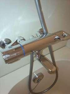 温度調節か便利なサーモスタット式混合栓導入
