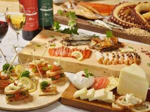 洞爺湖万世閣ホテルレイクサイドテラス:◆自家製チーズ&海鮮燻製