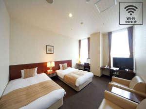 旭川トーヨーホテル:禁煙スタイリッシュツインAのひと部屋