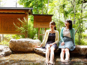 飛騨高山温泉 高山グリーンホテル:【足湯】館内にある無料の足湯。ほっこりするね♪